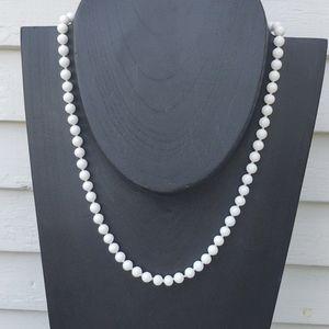 "24"" Creamy White Monet Beaded Necklace"